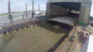 Pontoon launch marks milestone in Tilbury2 development